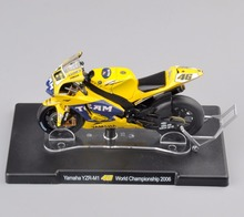 1/18 Scale VALENTINO ROSSI Yamaha Motorcycle Model No.46 YZR-M1 World Championship 2006 Yellow Diecast Moto Kids Toy
