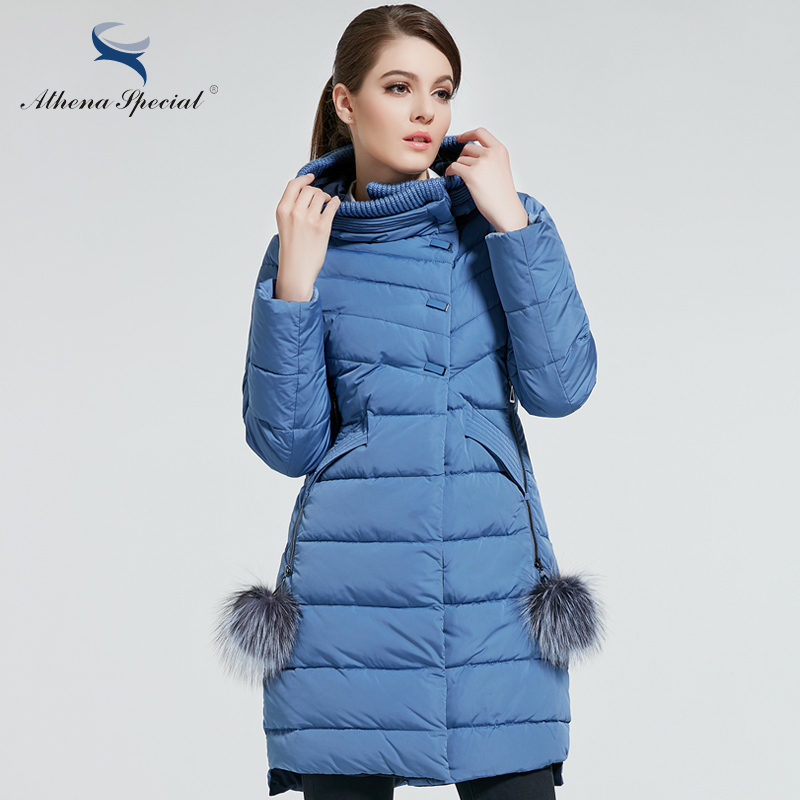 Athena Special 2017 New Women Winter Coat Warm Thick Hooded Parka Womens Bio Jackets Female Overcoat  -  athena special official store store