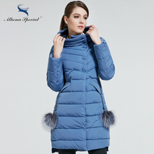 Athena Special 2017 New Women Winter Coat Warm Thick Hooded Parka Womens Bio Jackets Female Overcoat - athena special official store