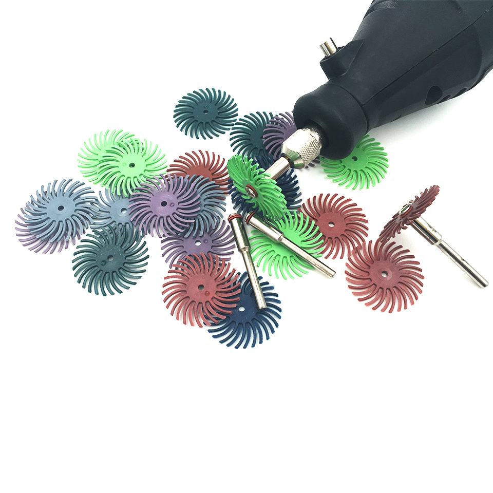Dremel Accessories Tools 3M radial bristle brush 80# 220# 120# 400#  80pcs with 5pcs mandrels  jewelry tools<br><br>Aliexpress