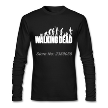 Man T Shirts The Walking Dead Funny Hot Sale Movie Logo Tee shirts Luxury Brand Long Sleeve Men Tee Tops Camisetas