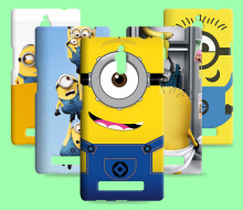 3D Movie Retro Cases Despicable Me Cover For OPPO Find 5 X909 Finder X907 Yellow Minion Phone Shell For OPPO Find 7 X9007