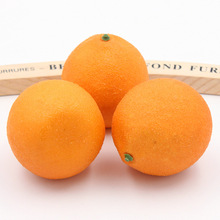 2PCS 7.5CM Artificial Orange Simulation fruit Vegetables Furnishing Articles Kindergarten Garden Family Kitchen Decoration