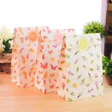 9 sets paper bag feather butterfly cute design gift packaging birthday party candy holding