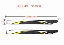 Gartt SAB380 Carbon Fiber Main Blades for ALZRC 380 Align 470 RC Helicopter