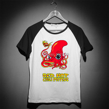 red hot chili peppers rock funky style raglan sleeves men women t shirt good quality cheap price(China)