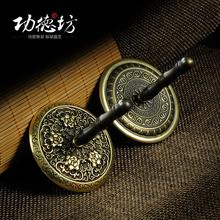 Copper antique ash bet beautifully carved brass special grey for dust and fragrant incense road, seal press promotions(China)