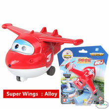 New 2016 Best Sale Anime Super Wings Alloy Airplane Robots Action Figures sliding plane Toys For Boys free shipping(China)