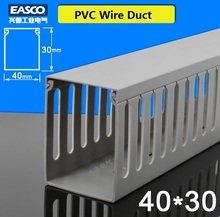 Economical Wiring Duct Made of Heat Resistant PVC 40*30mm*500mm length-Fingers Space 4mm,6mm and 8mm