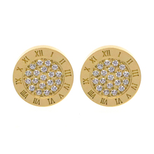 Round Shine AAA Zirconia Earrings For Women Fashion Jewelry Stainless Steel 10MM Diameter Stud Earrings Men brincos Boy Girls