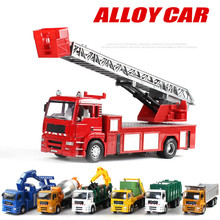 Hot sales Big toy car,Large engineering car,1:32 scale alloy Fire engines, rescue vehicles, trailers,garbage truck,wholesale