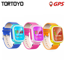 "Q523 1.44"" LCD Screen Kid GPS Smart Watch Phone Wristwatch SOS Location Tracker Safe Monitor Baby Gift Anti Lost for IOS Android"