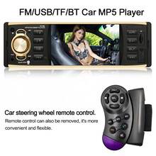 1 DIN Car Audio 4.1 in TFT HD Car Radio MP5 Player Multimedia Entertainment BT USB/TF FM Aux Input Steering Wheel Remote Control(China)