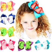 TWDVS Big Cool Bow Knot Flower Hair Clips Kids Beautiful Hairpin Hair Accessories W234(China)