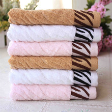 Big sales Tiger Stripes Bamboo Fiber Soft Face Towel Water Bath Beach Bath Absorbent Cloth(China)