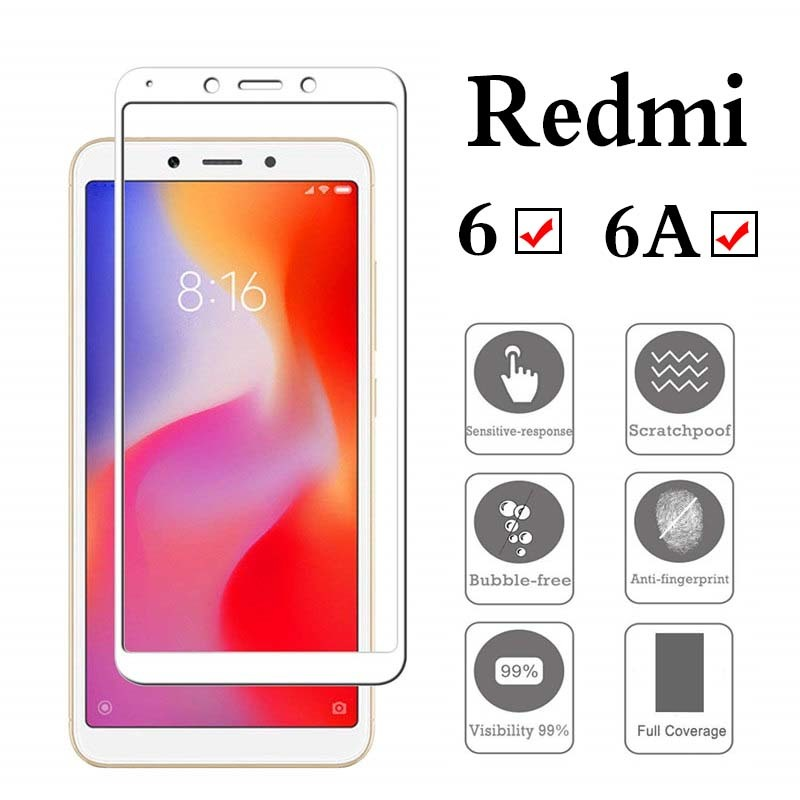 full-cover-Tempered-Glass-For-xiaomi-redmi-6A-6-A-redmi6A-screen-protective-toughened-case-fit