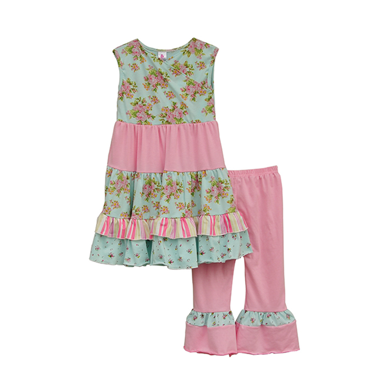 2016 New Stlye Children Clothing Tee Stitching Lace Sleeveless Shirt And Trousers With Paragraph Flounced Girls Clothes S051<br><br>Aliexpress