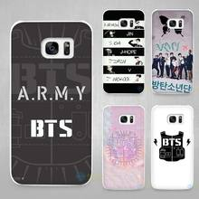 BTS Bangtan Boys music logo Hard White Coque Shell Case Cover Phone Cases for Samsung Galaxy S4 S5 S6 S7 Edge Plus(China)