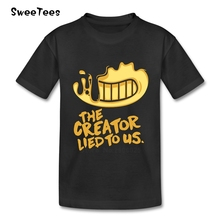 Bendy And The Ink Machine Boy Girl T Shirt Baby Infant 100% Cotton Round Neck Kid Tshirt Children Tees 2017 T-shirt For Toddler(China)
