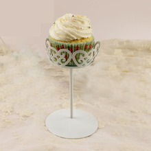European Style Single Wrought Iron Cupcake Decorations Home Decor Display Stand(China)