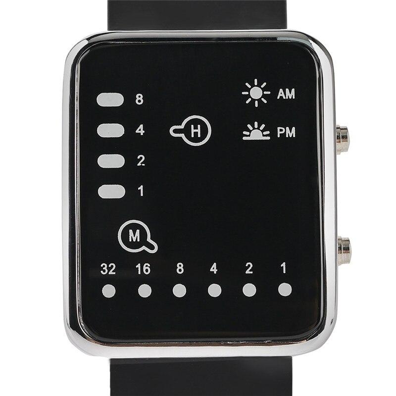 Cool LED Binary Watch Blue Backlight Fashion Men Women Geek Digital Wristwatch Soft Black Silicone Band Sport Watches Army Clock (4)