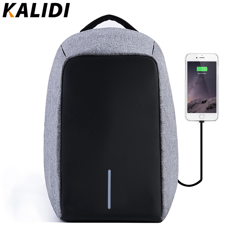 KALIDI Anti-theft Waterproof 17.3 Laptop Backpack Men External USB Charge Notebook Backpack for Teenage 15.6 inch laptop  bag <br>