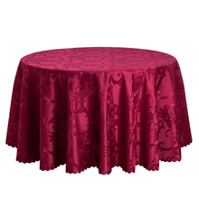 Home Hotel Wedding Table Cloth Polyester Jacquard Dining Table Linen Round Tablecloth Decor White Gold Red Table Cover Wholesale