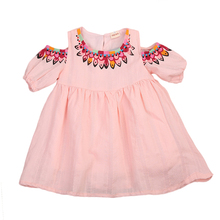 Toddler Kids Baby Girls Princess Ethnic style Dress Party Prom Wedding 2017 new arrival fashion Dress Age 3-8Y