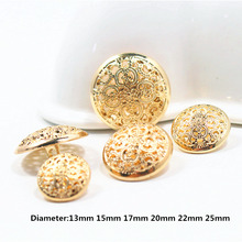 Free shipping, 10PCS gold mix hollow diameter of 13mm-25mm gold buttons, clothing accessories, shirt, coat buttons,w9(China)