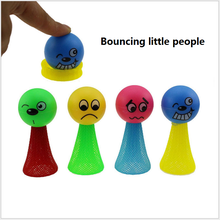 5 Pcs/Pack Kids 6/9cm Large Bounce Ball Toys Baby Gifts Children Educational Game Hip Hop Expressions Push&Down Elf Villain Doll(China)