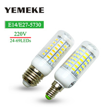 Super LED Bulb E27 E14 SMD 5730 LED Lamp 24 36 48 56 69leds 220V  lampada LED Corn Bulb light Chandelier led lights for home