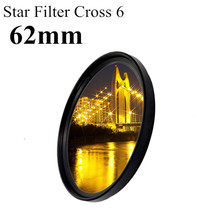 6x 6pt Point 62mm 62 Lens Star Filter Cross 6 for Canon EOS For nikon for sony for pentax camera 1pcs
