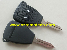 5 pcs Factory price for chrysler key 2 buttons remote key shell with battery holder,pad,conductive gasket