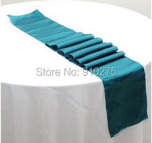 "5pcs Turquoise Satin Table Runner Wedding Party Banquet Table Decoration 12""x 108""(Inch)"