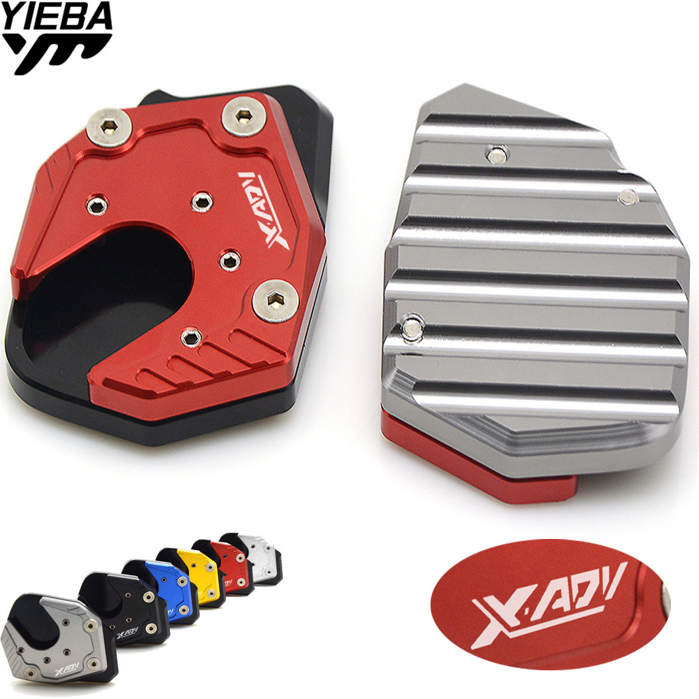 for Honda X-ADV X ADV XADV ampliar 2017 2018 Motorcycle Accessories Side stand enlarge kickstand Extension With X-ADV LOGO
