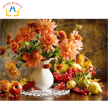 HOME BEAUTY diy digital oil painting by numbers wall home decoration paint unique gift flower craft picture artwork  G011