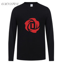 Long Sleeve Derrick Rose T Shirt Men Fashion Cotton Rose Men T Shirts Tees Full Sleeve T-shirt Tops Clothing Free Shipping