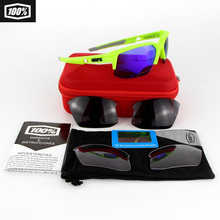 Hot Promotion 100% Speedcouple Motor Biker Goggle BMX Polarized Sunglasses  cycling Glasses with 2 Lens EVA Boxes YH09
