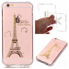 coque for iPhone 6 s Plus Phone Bag Case Flexible TPU Lacquered Cover for iPhone 6s Plus/6s Plus - Eiffel Tower -30% discount