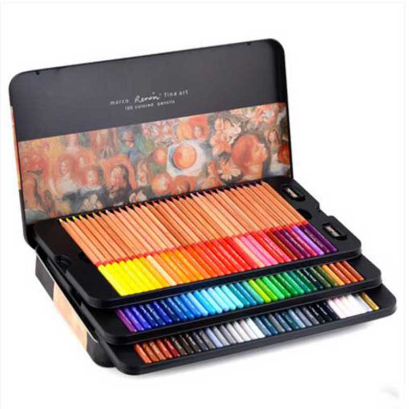 Free shipping oily color lead tin box drawing hand color pencil 24 36 48 72 100 colors lapis de cor faber castell /N16040<br><br>Aliexpress