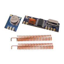 2sets  ASK transmitter TX STX882+ASK receiver RX SRX882+SW433-TH32 copper spring antenna 433mhz  ASK module 433/315mhz
