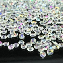 10000pcs/ AB Clear 4.5 MM Wedding Table decoration Diamond  Confetti Gems Marriage Decoration Favours,high quality big discount