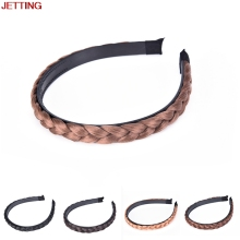 JETTING-Vintage New Women Band Girls Korea Style Wig Headband Braids Hair Headband Lady Hair Accessories