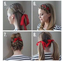 1 PC Fashion Women Magic Tools Ribbon Device Quick Messy Bun Hairstyle Girl Hair Band Accessories Silk Headband t5