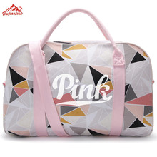 PINK Single Shoulder Gym Bag Big Capacity Women yoga bag Portable Ball Sports Fitness Bag