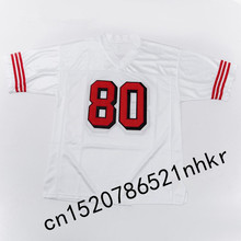 Retro star #80 Jerry Rice Embroidered Name&Number Throwback Football Jersey(China)