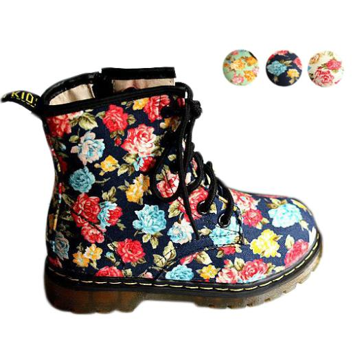 Fashion Children Boots Girls Boots Princess Kids Boots 2017 New  Small Rose Winter Motorcycle Boots<br><br>Aliexpress