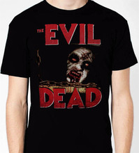 2017 Hot Sale Fashion ASH EVIL DEAD ARMY OF DARKNESS GROOVIAN MAN Mens T-Shirt Boomstick Cotton t shirt slogans Customized shirt