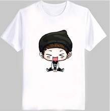New Men's And Women's summer kpop t shirt ikon cute cartoon comic images print bobby B.I T Shirt women plus size cotton t-shirt