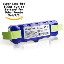 3800mAh 14.4V XLife Extended 1000-Circles Battery for Irobot Roomba 500/600/700/800 Series 500 510 530 531 570 580 595